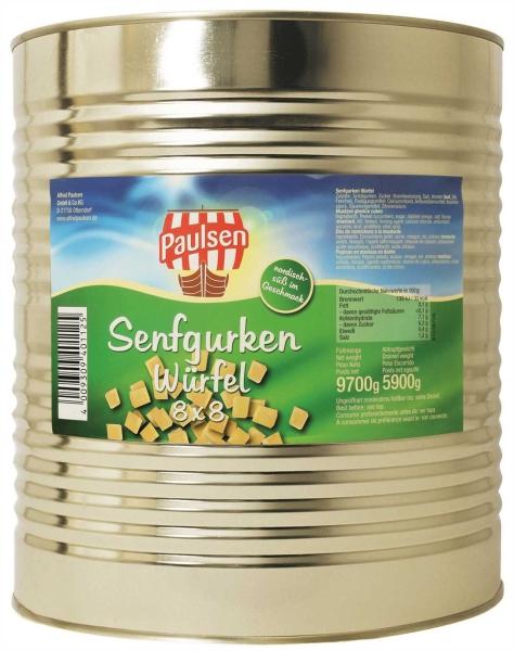 Senfgurken Würfel m.Z. 10x10 10.200 ml