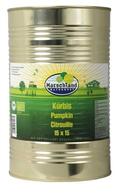 Bio-Kürbiswürfel 15x15 ohne Süßung 4.250 ml