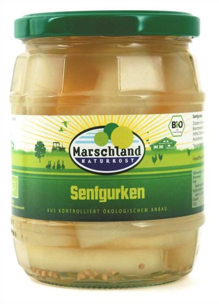 Bio-Senfgurken 580 ml Gl. MARSCHLAND