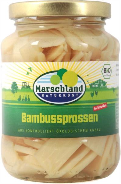 Bio-Bambussprossen in Streifen 370 ml