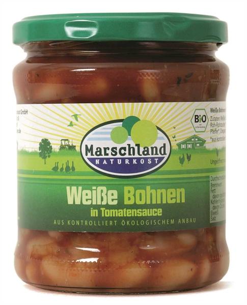Bio-Weiße Bohnen in Tomatensauce 370 ml