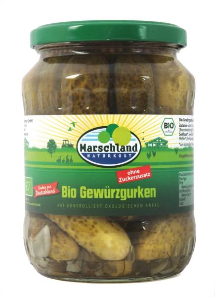 Bioland Bio-Gewürzgurken ohne Zucker 720 ml