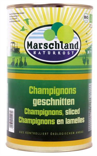 Bio-Champignons geschnitten 4.250 ml