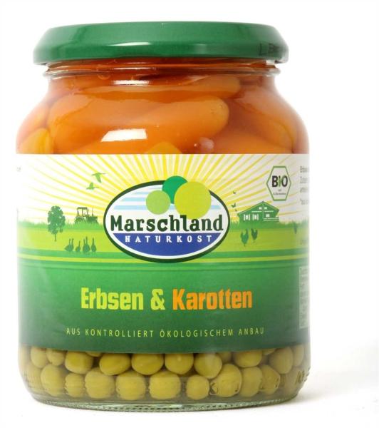 Bio-Erbsen & Karotten 370 ml