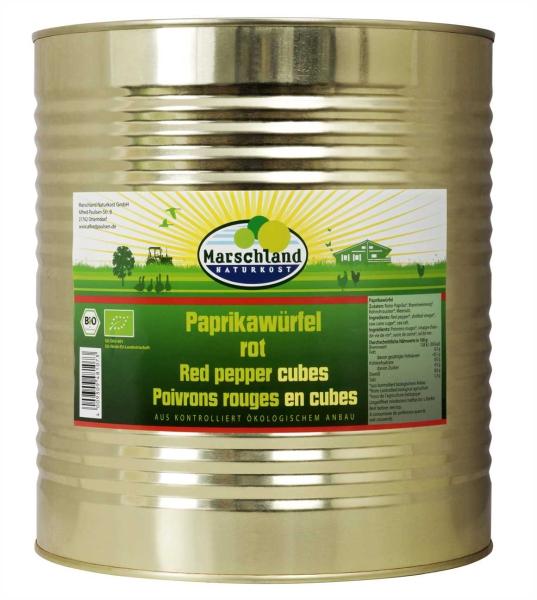 Bio-Tomatenpaprika Würfel mit Zucker 10.200 ml