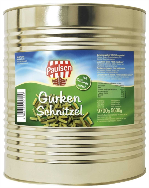 Gurken Schnitzel Süßstoff 10.200 ml