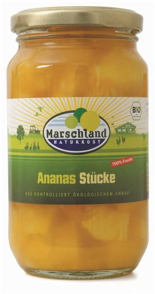 Bio-Ananas Stücke 370 ml