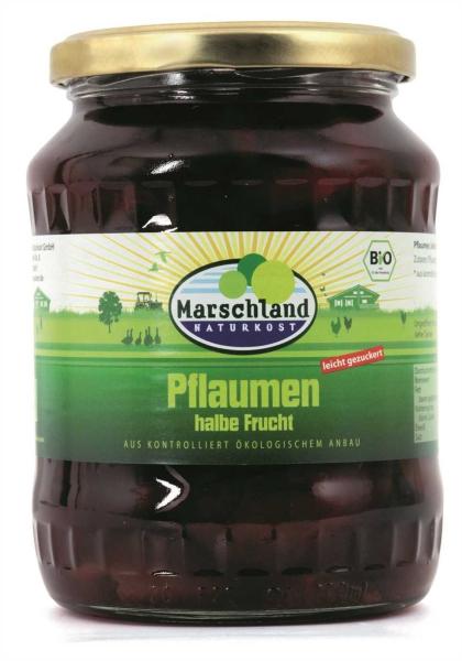 Bio-Pflaumen, halbe Frucht 720 ml