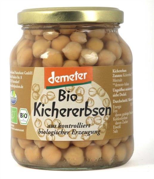 Bio Demeter-Kichererbsen 370 ml