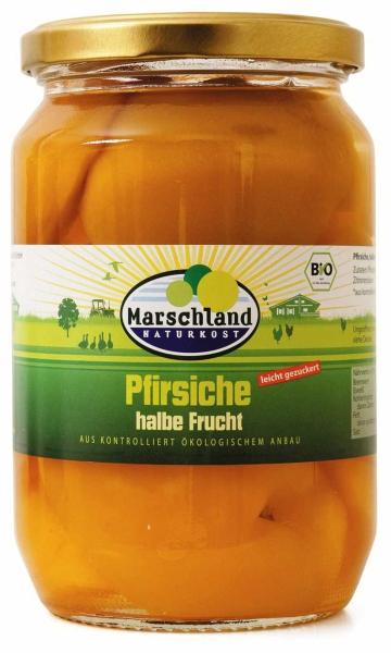 Bio-Pfirsiche, halbe Früchte 720 ml