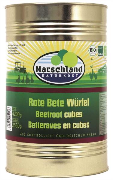 Bio-Rote Bete Würfel 4.250 ml