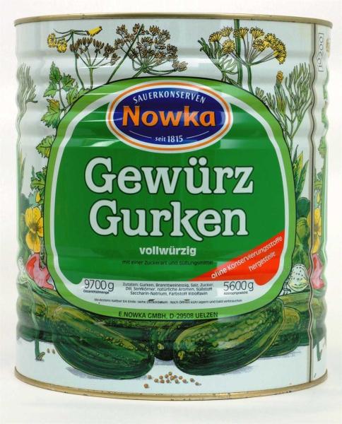 Gewürzgurken 40/45 o. K. 10.200 ml