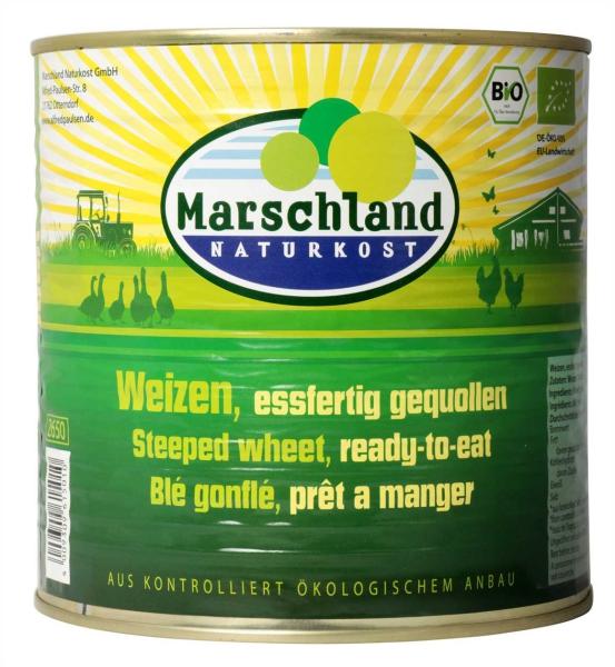 Bio-Weizen, eßfertig gequollen 2.650 ml