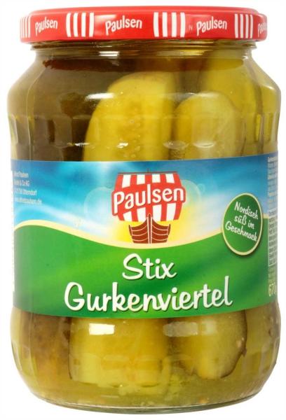 Stix-Gurkenviertel 720 ml