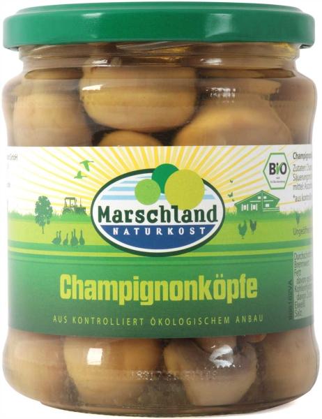 Bio-Champignon Köpfe 370 ml