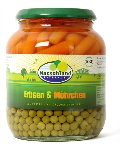 Bio-Erbsen & Karotten 720 ml