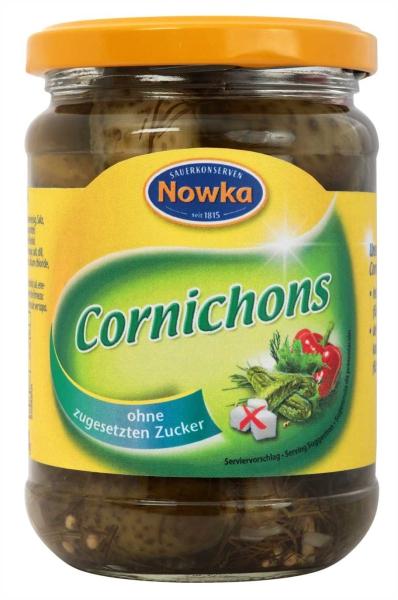 Cornichons ohne Zucker 370 ml
