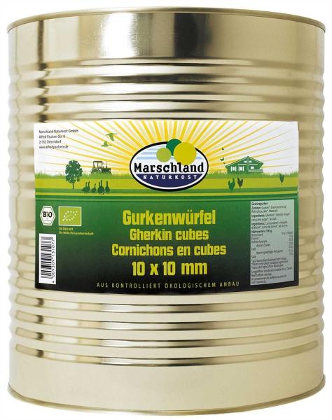 Bio-Gurkenwürfel 10x10 10.200 ml