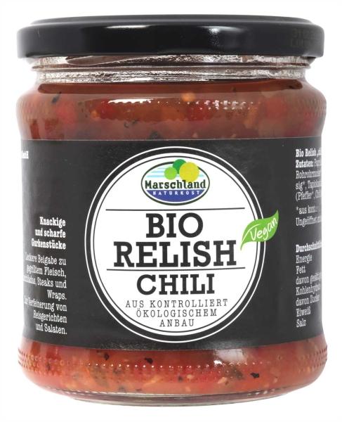 Bio Gurken-Relish Chili 370 ml