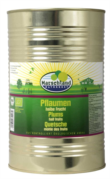 Bio-Pflaumen, halbe Frucht 4.250 ml