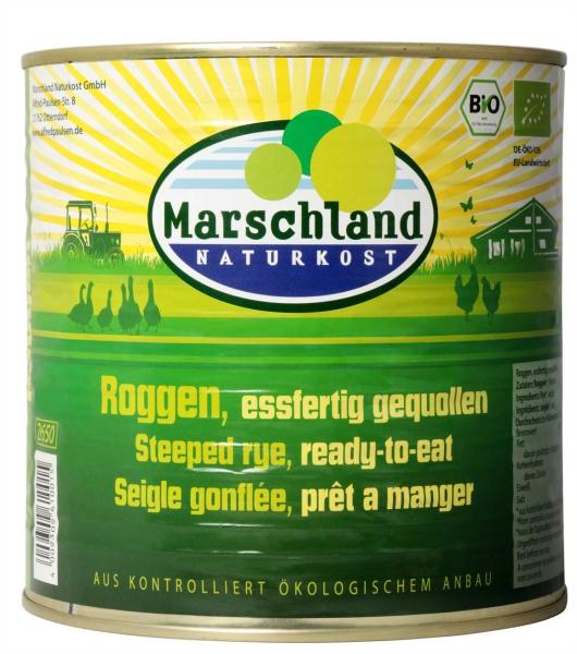 Bio-Roggen, eßfertig gequollen 2.650 ml