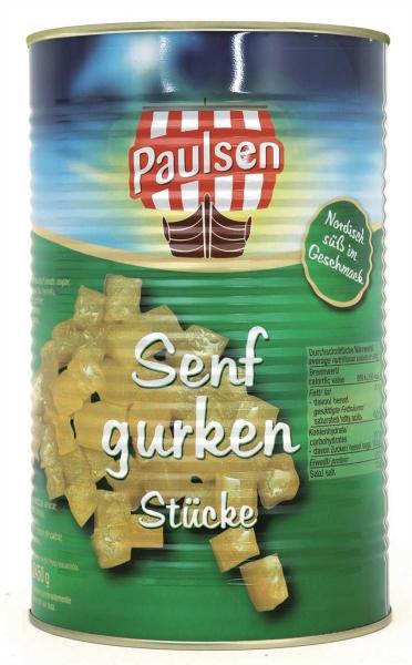Senfgurken Stücke 4.250 ml Ds. PAULSEN