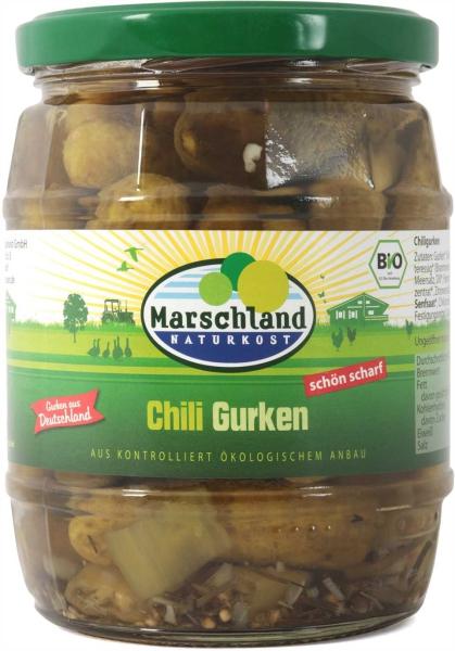 Bio-Chili-Gurken 580 ml