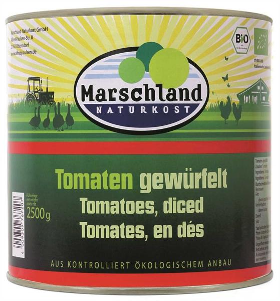 Bio-Tomaten gewürfelt 2.650 ml